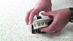 how to install a leviton provolt odc occupancy sensor youtube