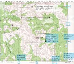 Topography Map Utm Coordinates On Usgs Topographic Maps
