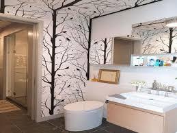 wallpaper borders bathroom ideas