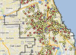 chicago map shootings this homicide map shows how bad things are getting in chicago