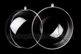 bulk 100mm acrylic fillable keepsake ornaments acrylic