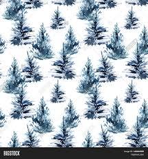 watercolor christmas tree seamless image u0026 photo bigstock