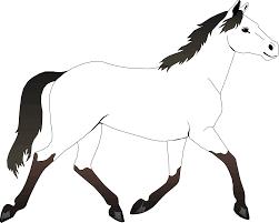 simple horse coloring kids horse pictures colour