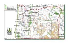 The Oregon Map by Oregon Chapter Sierra Club
