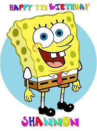 spongebob cake toppers spongebob squarepants a4 7 5 x 10 caketopper 4 99 picture