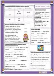 have you ever practice sheet for present perfect tense esl
