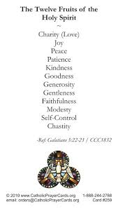 catholic gifts and more gifts fruits of the holy spirit prayer card prayer cards