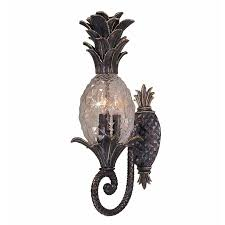 pineapple outdoor light fixtures new 3 light tropical outdoor wall l lighting fixture bronze