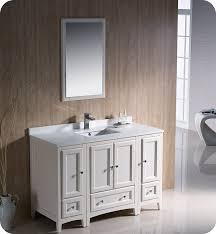 Bathroom Vanity With Side Cabinet Fresca Fvn20 122412aw Oxford 48 Traditional Bathroom Vanity With