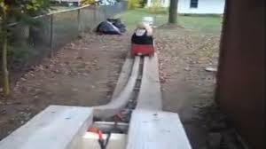 homemade wooden roller coaster official video youtube