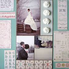 scrapbook wedding a wedding scrapbook page cosmo cricket