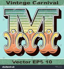 letter m alphabet sit vintage carnival stock vector 173131544