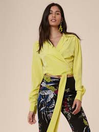 dvf blouse v wrap blouse landing pages by dvf