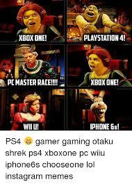 Playstation 4 Meme - xbox one cgamingplus pc master race wiiu playstation 4 xbox