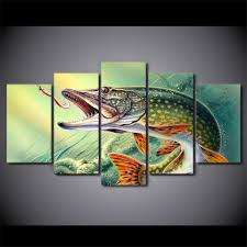 Fish Home Decor Fishing Poster Promotion Shop For Promotional Fishing Poster On