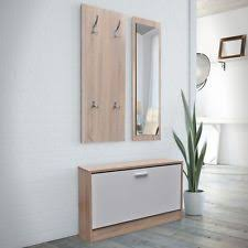 Hallway Shoe Storage Bench Modern Hallway Set With Mirror Storage Bench Hanger Shoe Cabinet