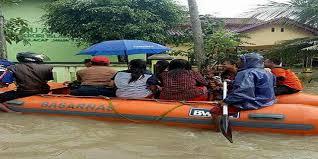 banjir landa kecamatan kawunganten kab cilacap desa mentasan
