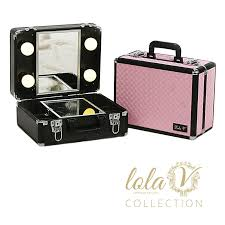 makeup luggage with lights must get one perfect for gigs black leather lolav mini travel