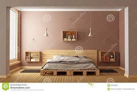 modernes schlafzimmer stock abbildung bild 60294880