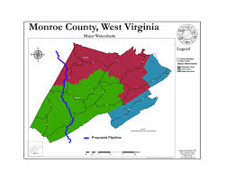 Virginia Map Of Counties by Preserve Monroe Maps Of Proposed Pipelines Through Monroe County