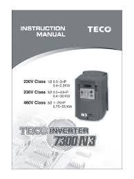 teco n3 instruction manual power inverter power supply
