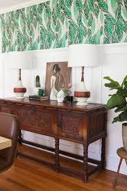 Wallpaper Designs For Dining Room Before U0026 After Modern Vintage Dining Room Reveal Jessica Brigham