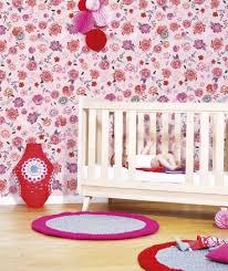 papier peint chambre bebe fille papier peint chambre fille fleuri baroque deco murale enfant