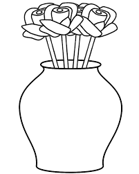 Sketch Of Vase Vase Coloring Pages Getcoloringpages Com