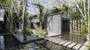 vegetable trellis cong sinh architects outdoor pinterest
