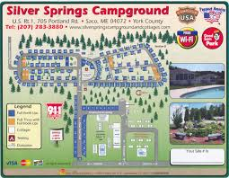 silver springs campground in saco near portland rv n u0027 camping