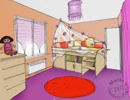 dessin en perspective d une chambre la chambre de clara chambres d enfants