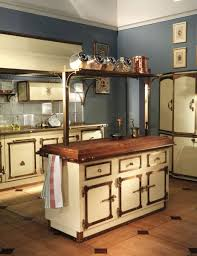 vintage kitchen furniture classic kitchen island ideas with cabinet and blue wall
