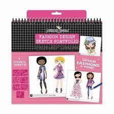 fashion angels design sketch portfolio set with stencils ebay