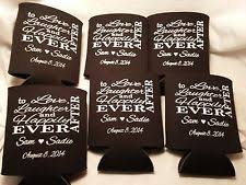 custom wedding koozies personalized koozie ebay