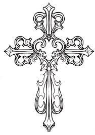 drawn cross fancy pencil and in color drawn cross fancy