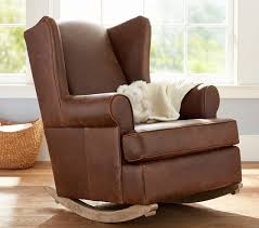 Rocking Chair With Ottoman For Nursery Sofa Fabulous Brown Rocking Chair For Nursery Fabric Rocker