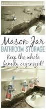 diy mason jar bathroom storage u2013 iseeidoimake