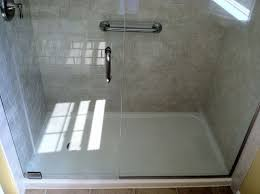 Bathroom Shower Pans Fiberglass Shower Base Pan With Simple Freedom Ada Compliant