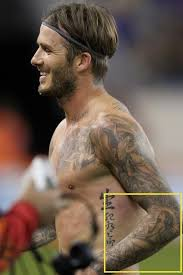 david beckham u0027s tattoo of posh spice causes poster
