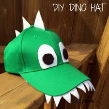 we just love the simplicity of the diy dinosaur hat would be