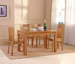 Round Wooden Dining Set Round Timber Dining Table