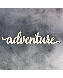 deal alert laser cut wood word adventure wood adventure sign