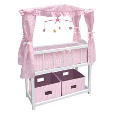 Badger Basket Armoire Badger Basket Canopy Doll Crib With Baskets Bedding U0026 Mobile