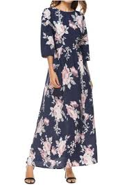 floral striped splicing pocket maxi dress fairyseason
