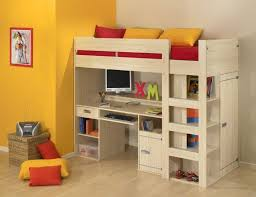loft bed with desk and stairs side desk desk underneath childrens