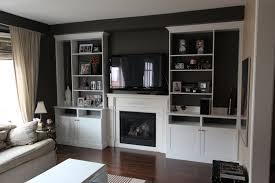 built in entertainment center around fireplace custom built