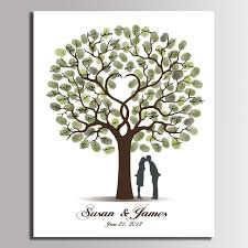 wedding tree fingerprint wedding tree memorabilia canvas customization mural