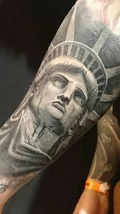 statue of liberty tattoo beautiful tattoos faces portrait