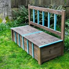 Waterproof Patio Storage Bench by Wooden Benchindoor Wood Storage Bench Plans Indoor Diy Image With