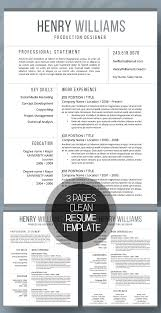 best resume template 3 50 best resume templates for 2018 design graphic design junction